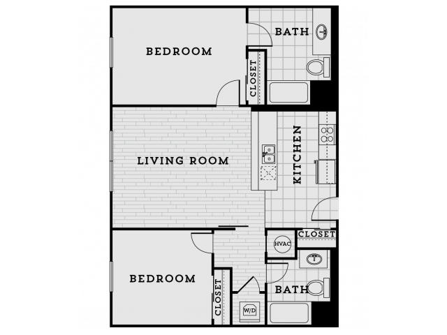 BB1R-Tailored Two bedroom Two bathroom