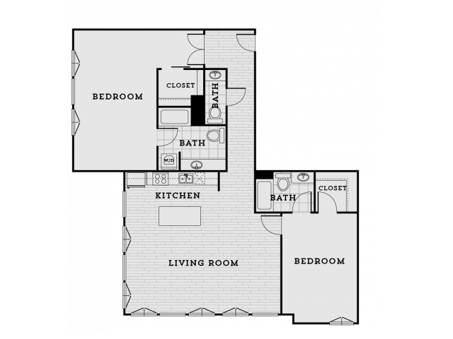 DB3R-Tailored Two bedroom Two bathroom