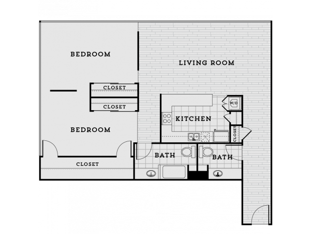 PB4R-Tailored Two bedroom One and a half bathroom
