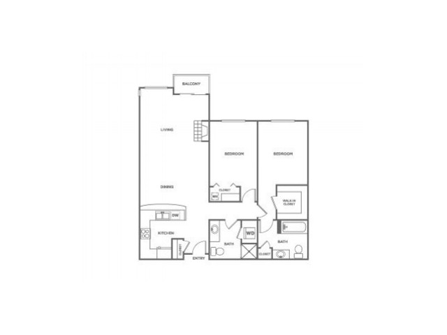 Sinclair-Classic | 2 bed 2 bath | from 1059 square feet