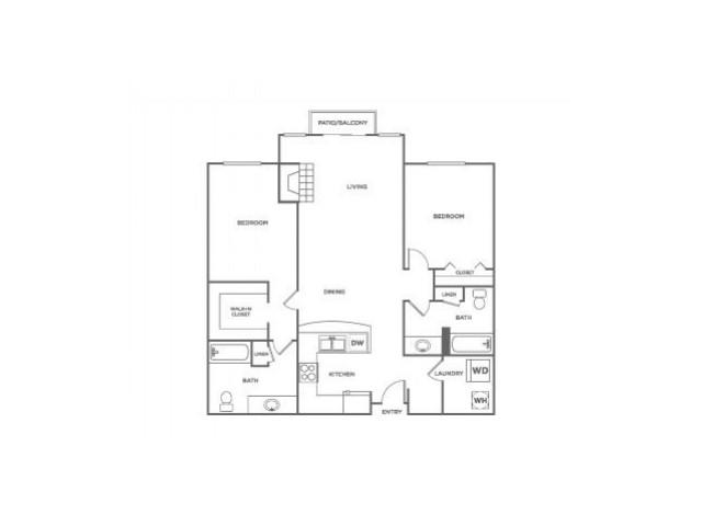 Fidalgo-Classic | 2 bed 2 bath | from 1039 square feet