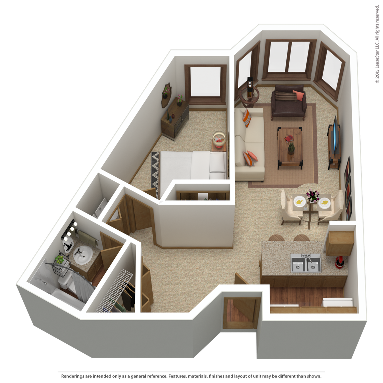 A1r | 1 bed 1 bath | from 789 sq. ft.