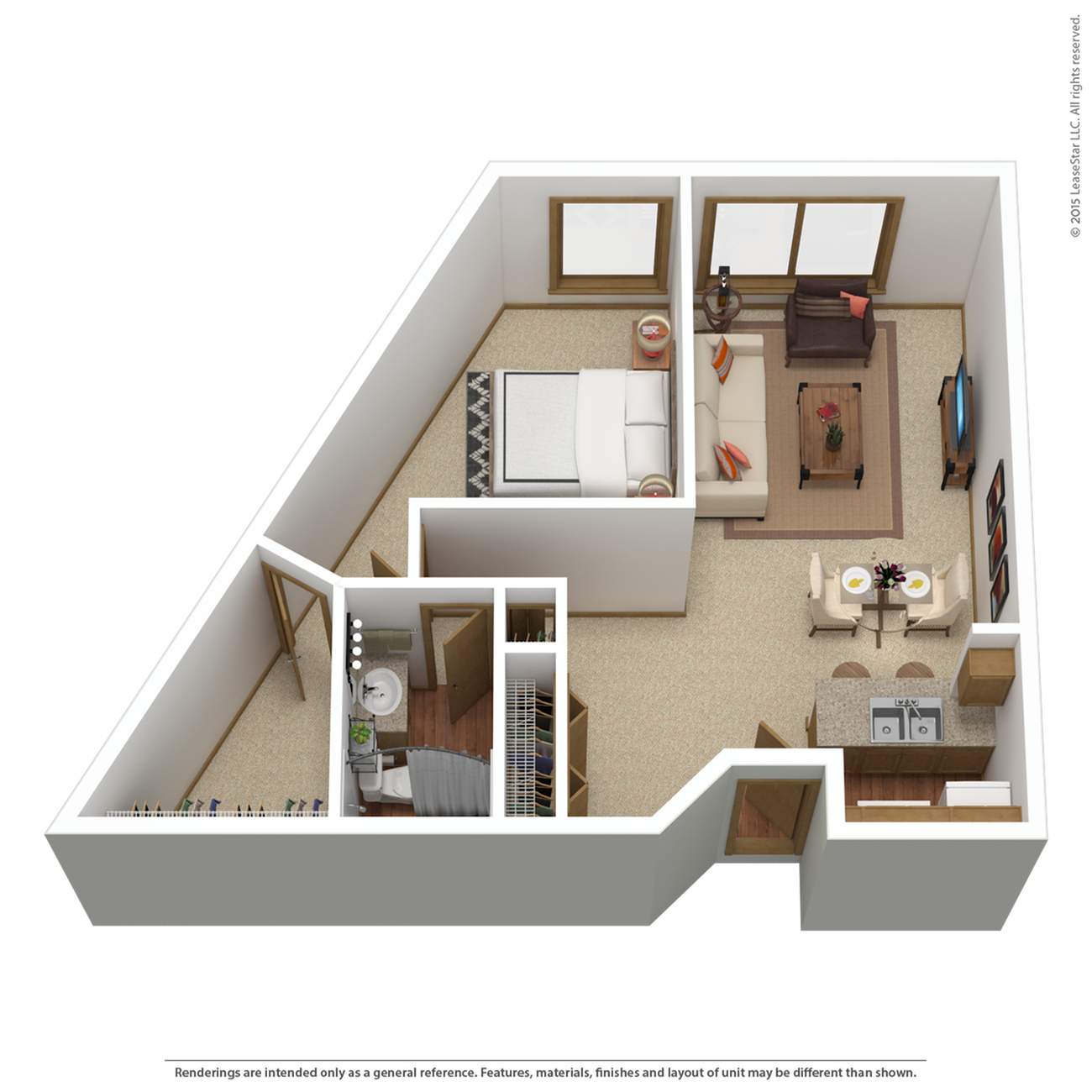 A3r | 1 bed 1 bath | from 835 sq. ft.