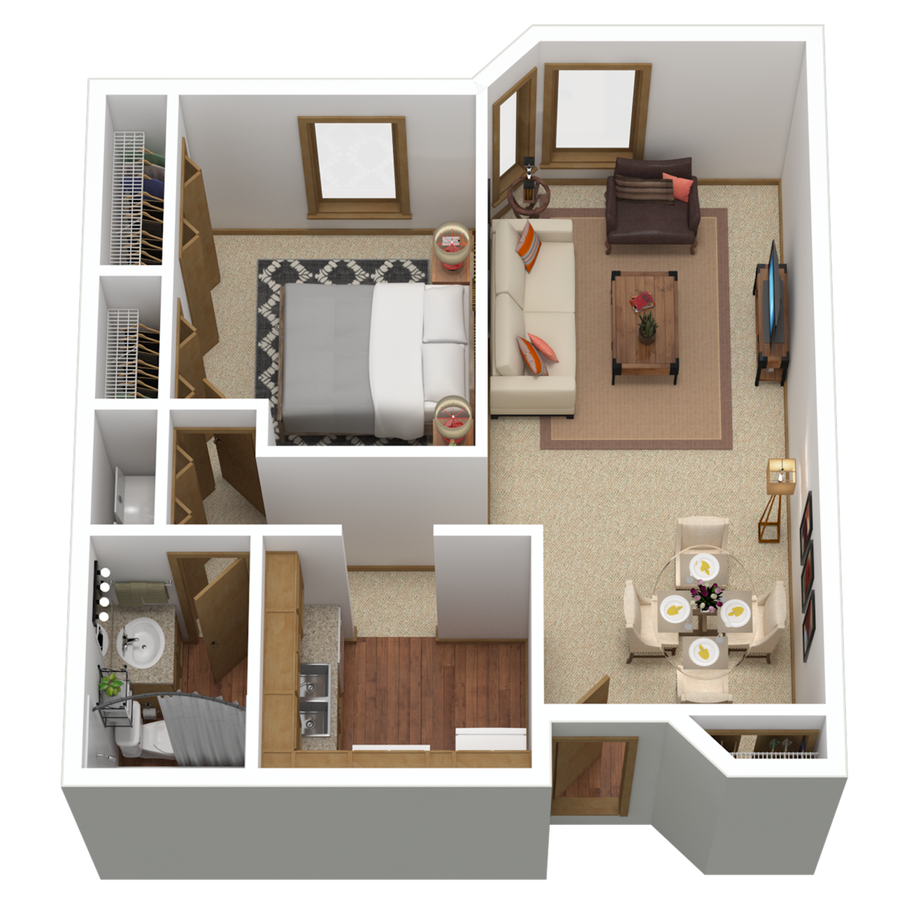 A4r | 1 bed 1 bath | from 859 sq. ft.