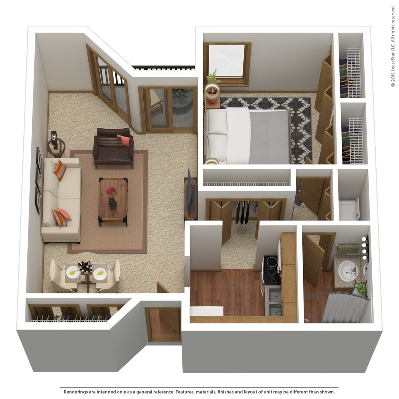 A7r | 1 bed 1 bath | from 932 sq. ft.