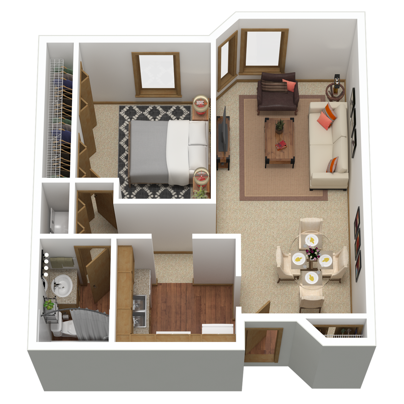 A8p | 1 bed 1 bath | from 990 sq. ft.