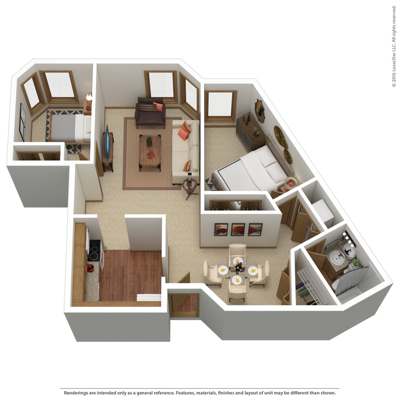 B1r | 2 bed 1 bath | from 955 sq. ft.