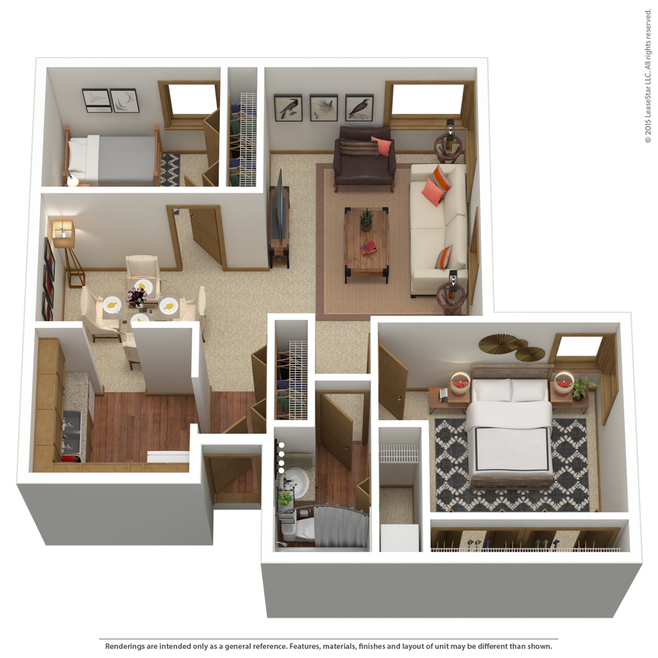 B2r | 2 bed 1 bath | from 990 sq. ft.