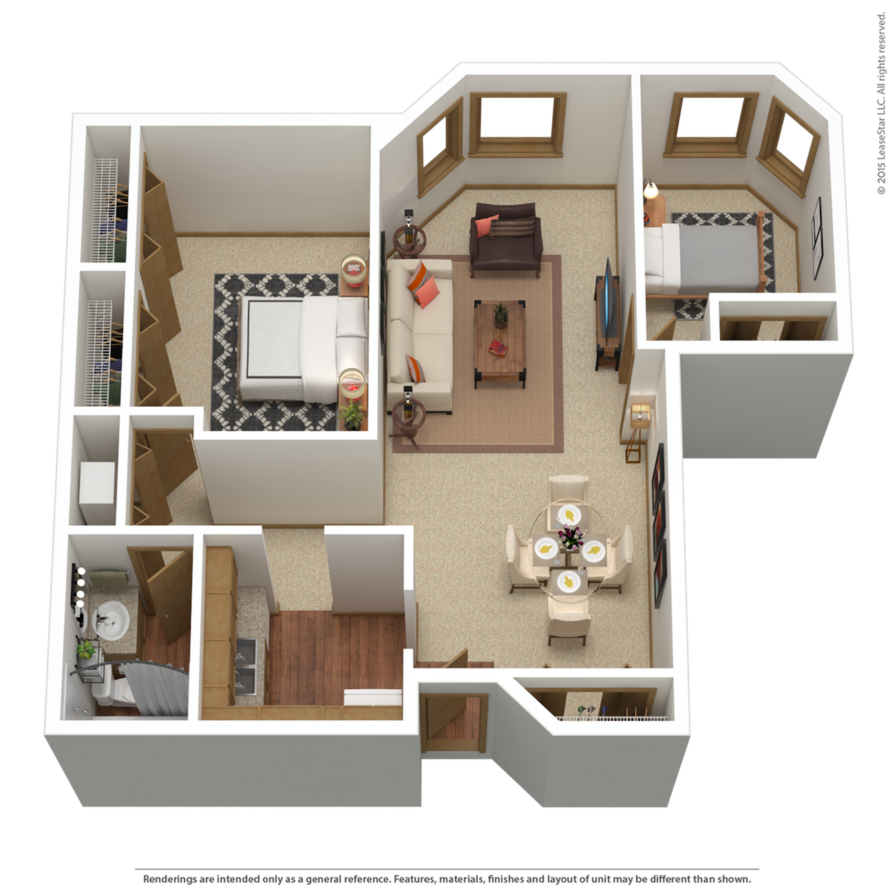B3r | 2 bed 1 bath | from 1,015 sq. ft.