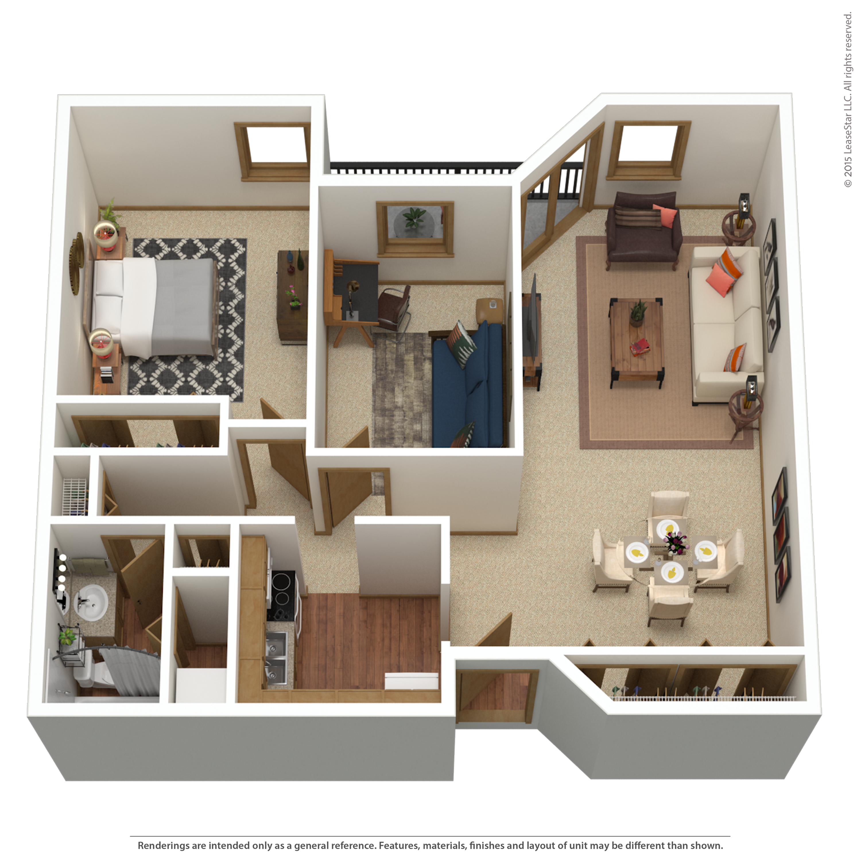 B4r | 2 bed 1 bath | from 1,062 sq. ft.