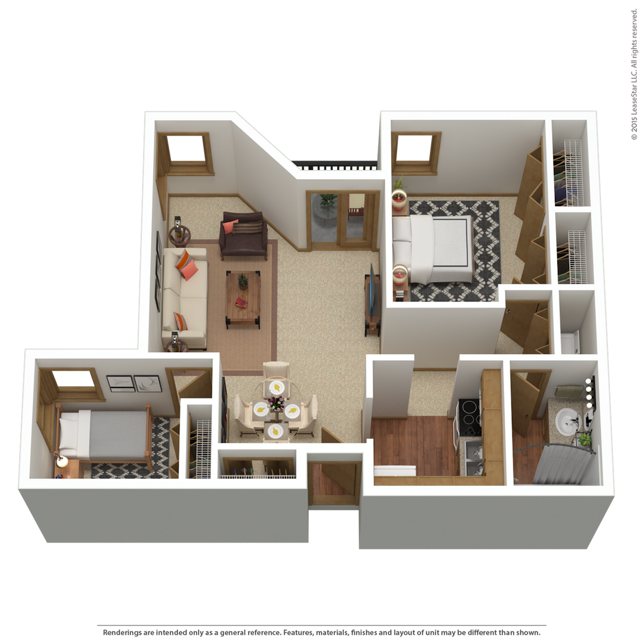 B5r | 2 bed 1 bath | from 1,069 sq. ft.