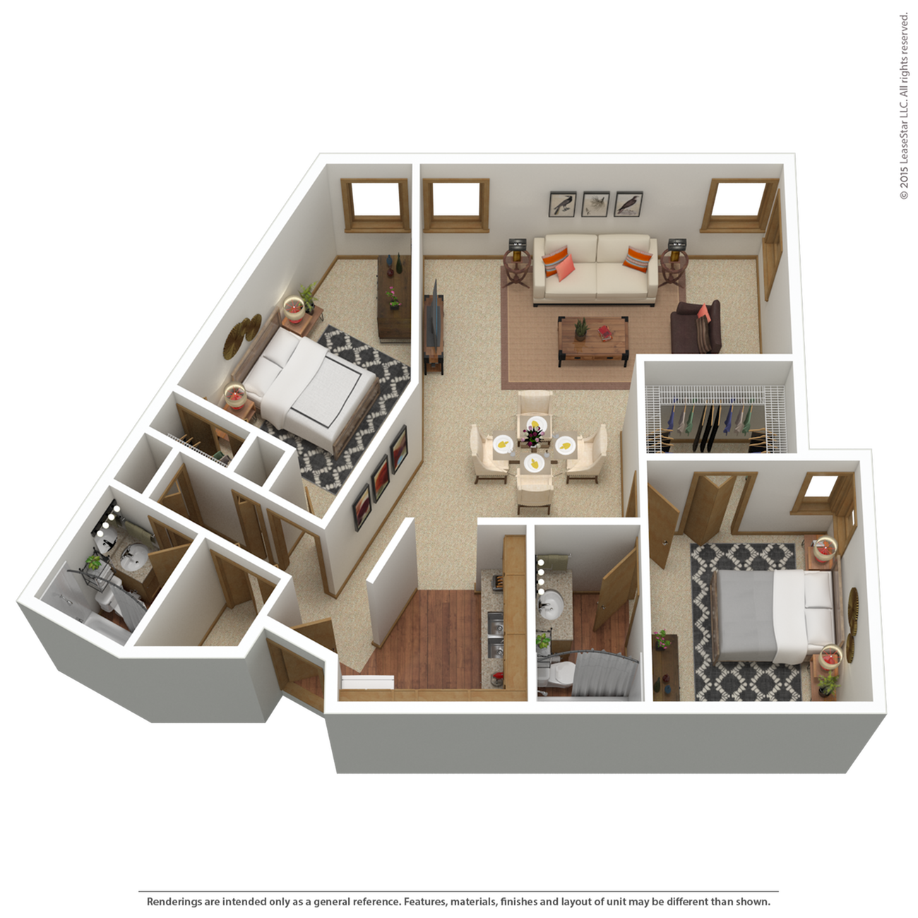 B8r | 2 bed 2 bath | from 1,177 sq. ft.
