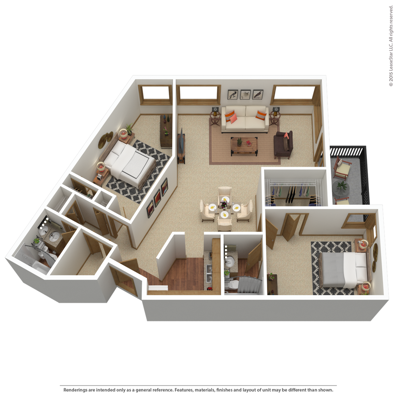 B9r | 2 bed 2 bath | from 1,304 sq. ft.
