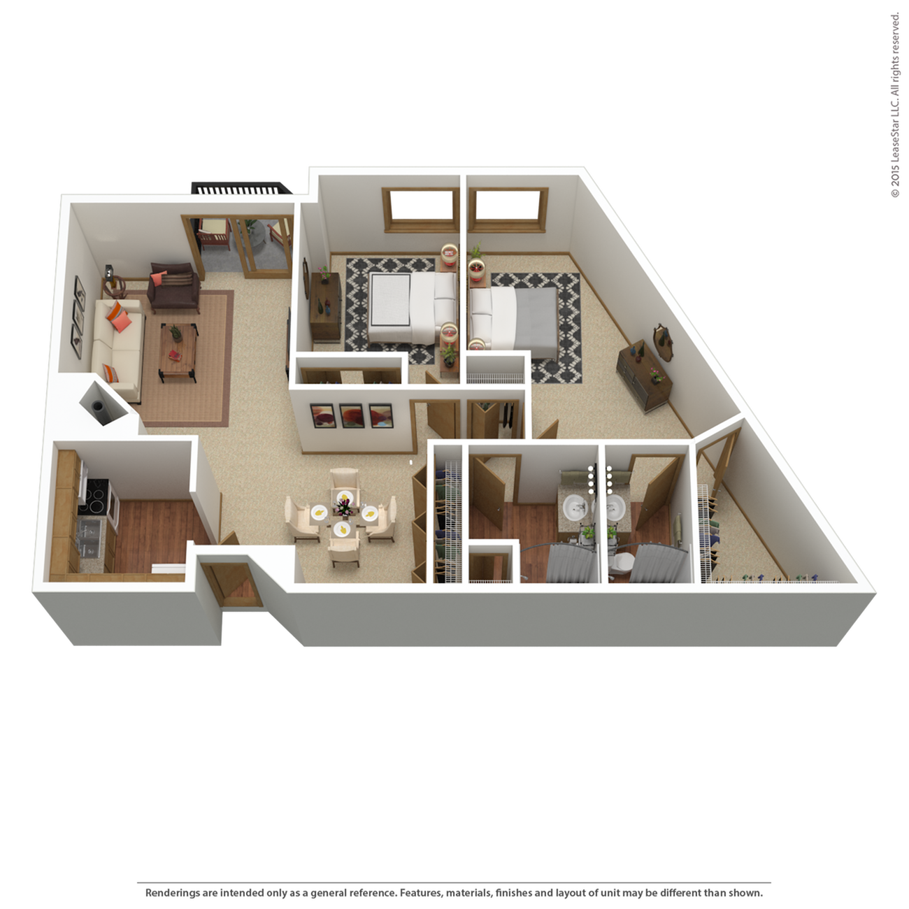 B10r | 2 bed 2 bath | from 1,315 sq. ft.