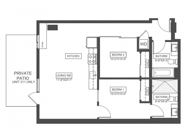 B1 | 2 bed 2 bath | from 837 square feet