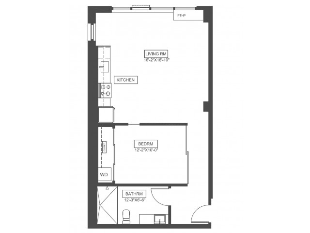 A6 | 1 bed 1 bath | from 696 square feet