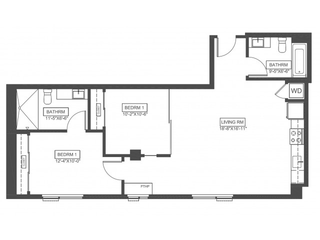 B3 | 2 bed 2 bath | from 895 square feet