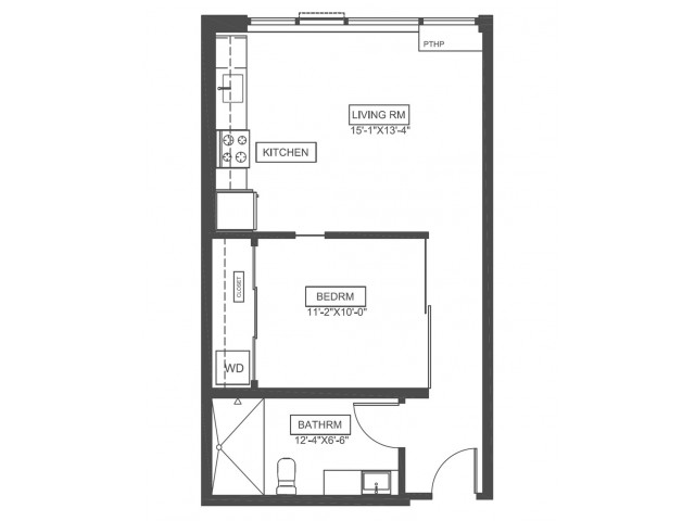 A3 | 1 bed 1 bath | from 559 square feet