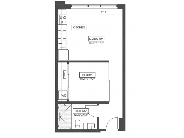 A1 | 1 bed 1 bath | from 511 square feet