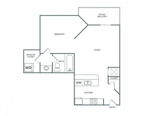 585 sq ft Studio Premium