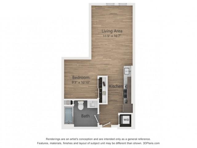 Studio A0.1  562 sq ft