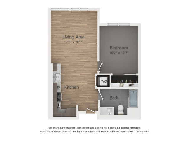 One Bedroom A1.2  703 sq ft