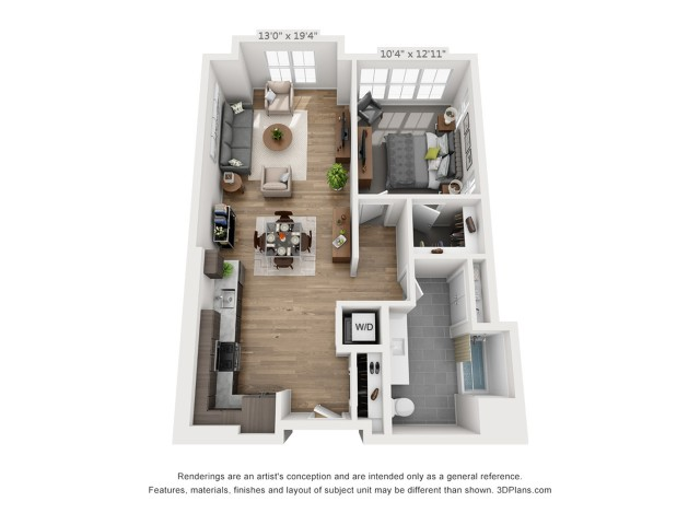 One Bedroom A11  850 sq ft
