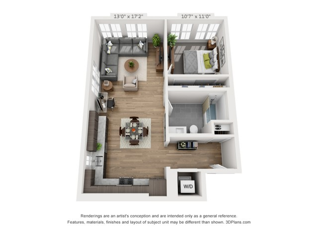 One Bedroom A12  779 sq ft