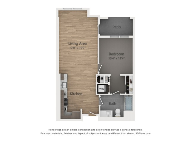 One Bedroom A2  716 sq ft
