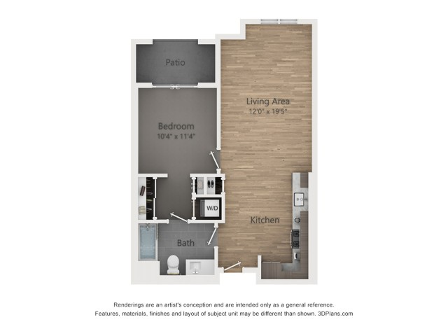 One Bedroom A2.2  741 sq ft