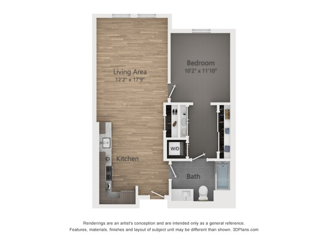 One Bedroom A2.3  761 sq ft