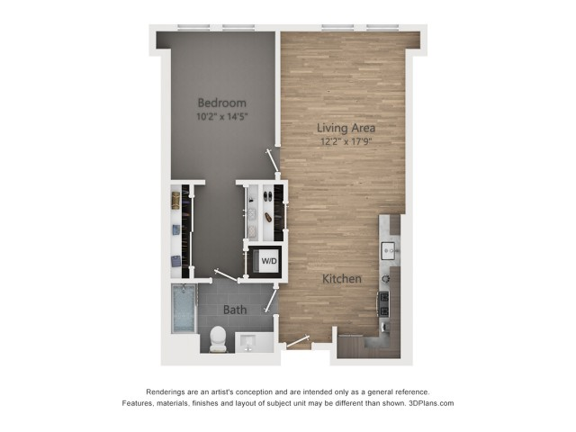 One Bedroom A2.4  797 sq ft