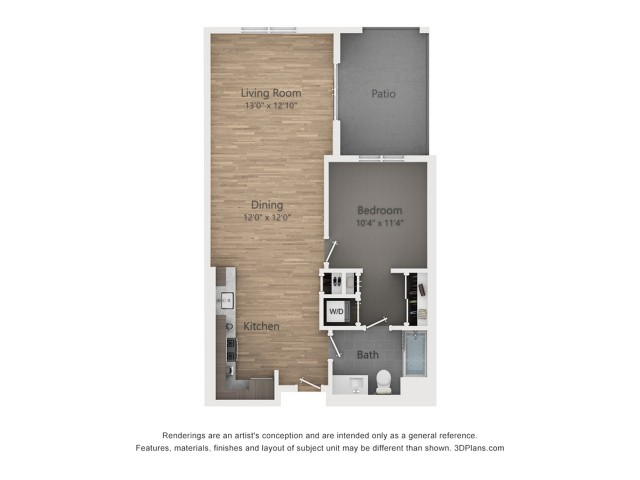 One Bedroom A2.5  821 sq ft