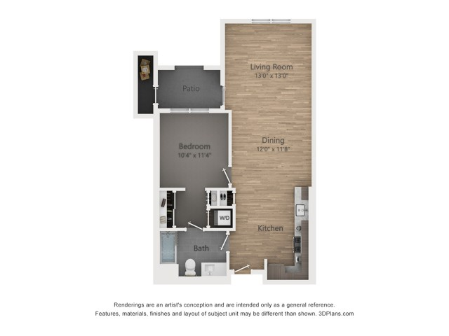 One Bedroom A2.6  862 sq ft