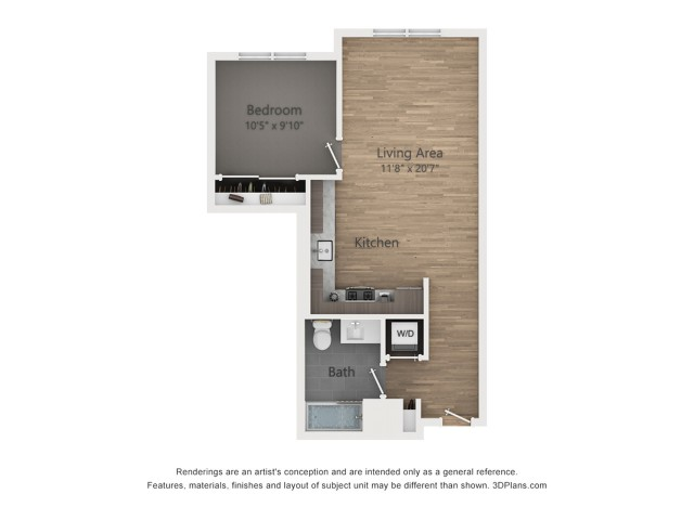 One Bedroom A3  642 sq ft