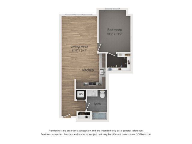 One Bedroom A3.3  710 sq ft