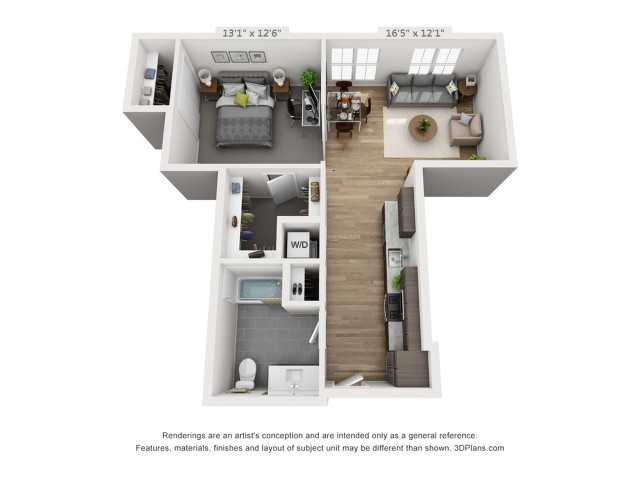 One Bedroom A4  773 sq ft