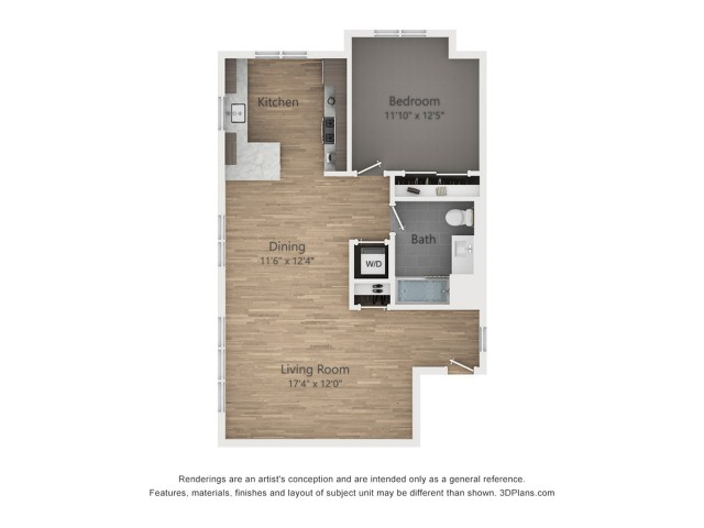 One Bedroom A5  875 sq ft