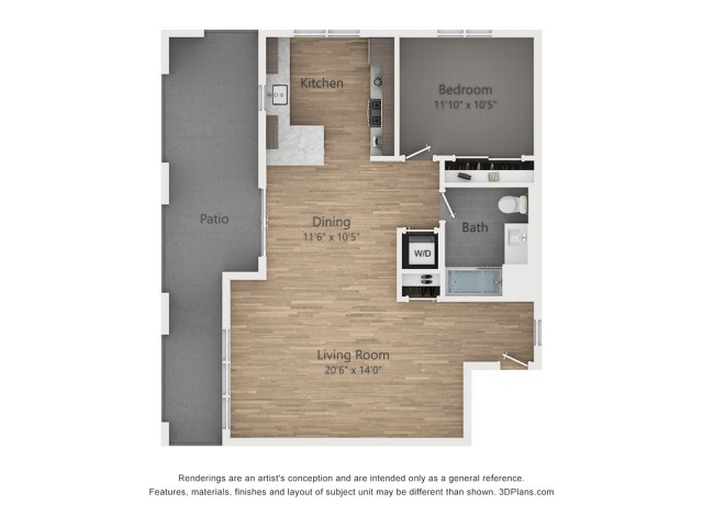One Bedroom A5.1  899 sq ft