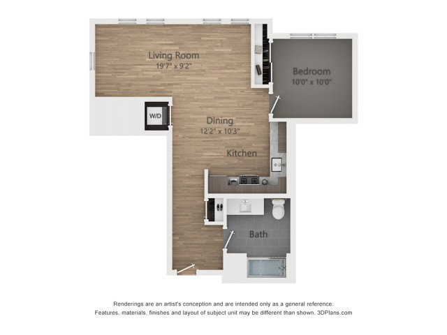One bedroom A6.1 713 sq ft