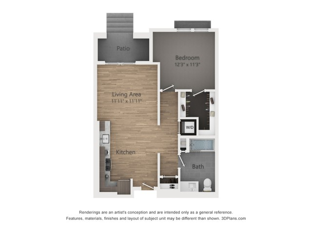 One Bedroom A7.1 722 sq ft