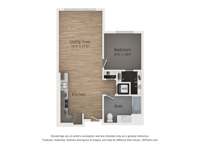One Bedroom A8  721 sq ft