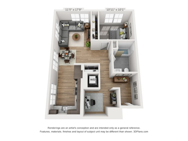 One Bedroom AD2  894 sq ft