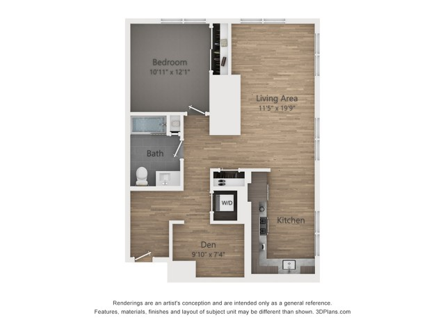 One Bedroom AD2.1  939 sq ft
