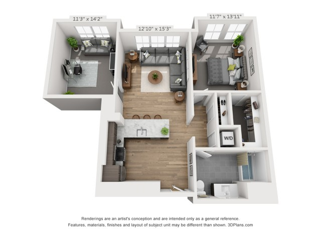 One Bedroom AD3  992 sq ft