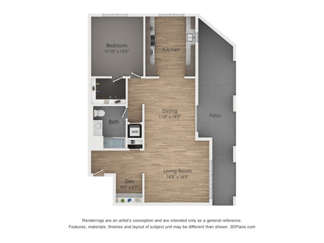One Bedroom AD4 1069 sq ft