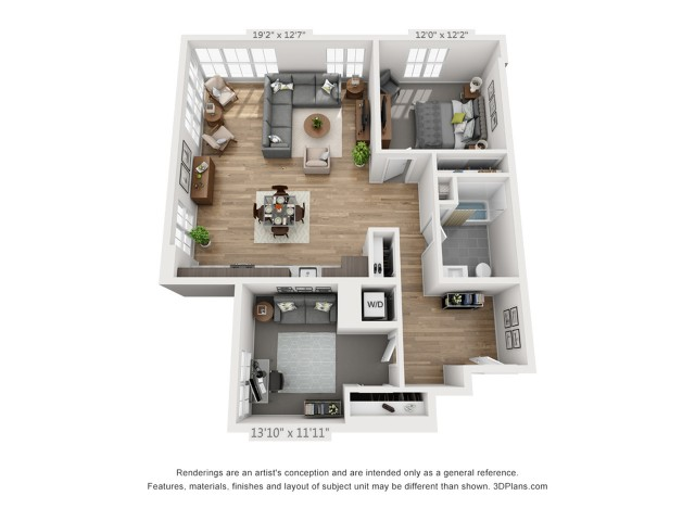 One Bedroom AD5 1168 sq ft