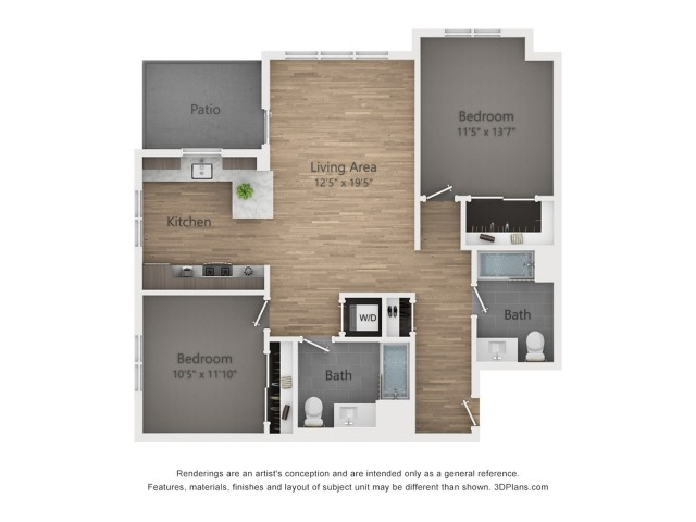 Two Bedroom B1 1082 sq ft