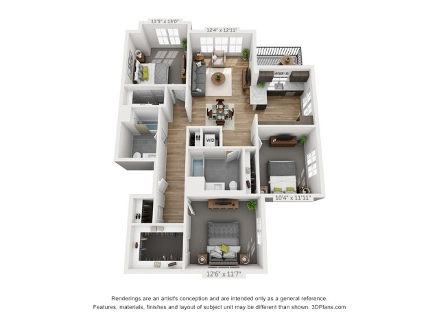 Three Bedroom C3 1349 Sq ft