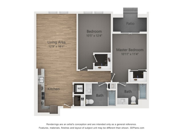 Two Bedroom B8 1063 Sq ft